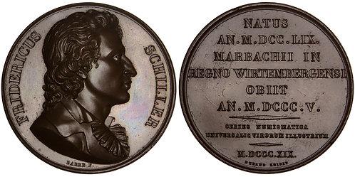101244  |  GERMANY & FRANCE. Friedrich Schiller bronze Medal.