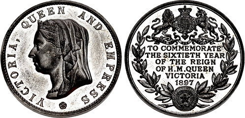 100056 | GREAT BRITAIN. Victoria white metal Medal.