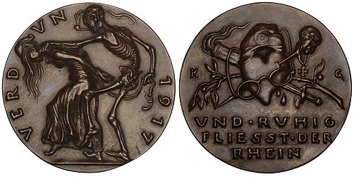 101073  |  GERMANY & FRANCE. Satirical bronze Medal.