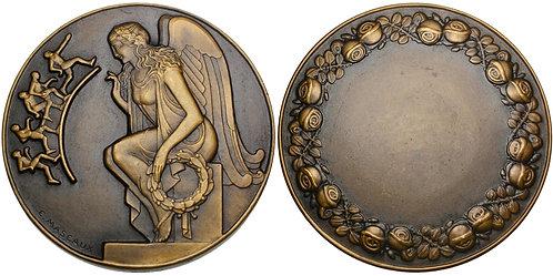 101596  |  FRANCE. Art Deco bronze award Medal.