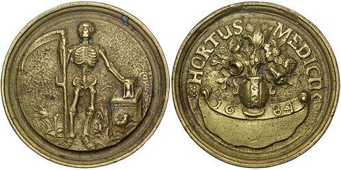 101697  |  DENMARK. Amsterdam. Surgeon's Guild cast brass Toegangspenning