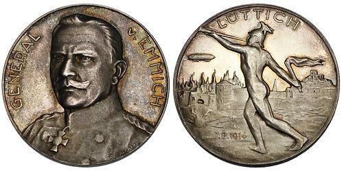 100166  |  GERMANY. General Otto von Emmich silver Medal.
