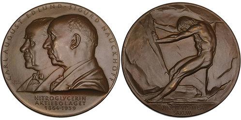 100540  |  SWEDEN. Carl August Edlund & Sigurd Nauckhoff bronze Medal.