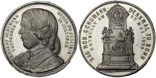 100298  |  GERMANY. Robert Schumann white metal Medal.