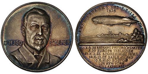 100161  |  GERMANY. Dr. Hugo Eckener silver Medal.
