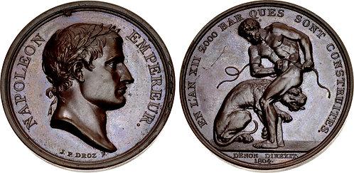 100058   FRANCE. Napoleon I bronze Medal.