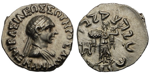 100226  |  GREEK. Baktria. Indo-Greek Kingdom. Menander I Soter silver Drachm.