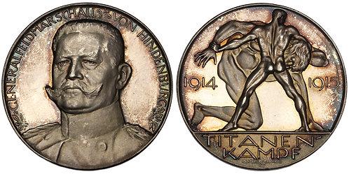 101206  |  GERMANY. Generalfeldmarschall Paul von Hindenburg silver Medal.