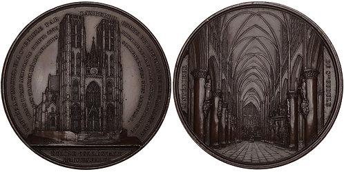 100724  |  BELGIUM. Co-Cathédrale collégiale des Ss-Michel & Gudule bronze Medal