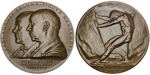 101545     SWEDEN. Carl August Edlund & Sigurd Nauckhoff bronze Medal.