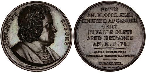 101247  |  UNITED STATES & FRANCE. Christopher Columbus bronze Medal.