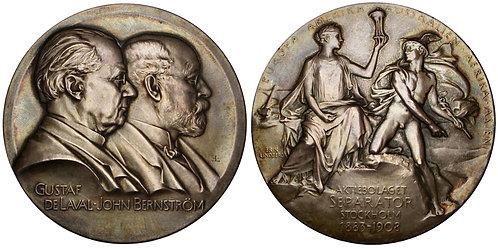 101334  |  SWEDEN. Gustaf de Laval & John Bernström silver Medal.