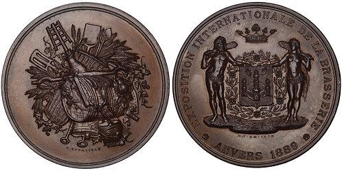 100759  |  BELGIUM. Antwerp. International Brewery Exposition bronze Medal.