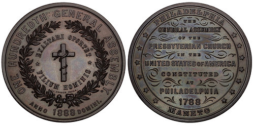 101124  |  UNITED STATES. Philadelphia, Pennsylvania. Presbyterian bronze Medal.