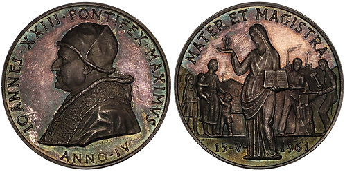 101061  |  ITALY. Vatican City. Pope Saint Ioannes XXIII silver Medal.