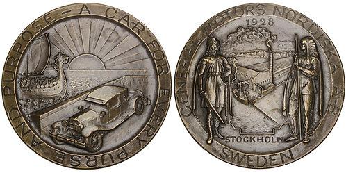 101191  |  UNITED STATES & SWEDEN. General Motors bronze Medal.