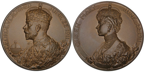 100575  |  GREAT BRITAIN. George V with Mary bronze Medal.