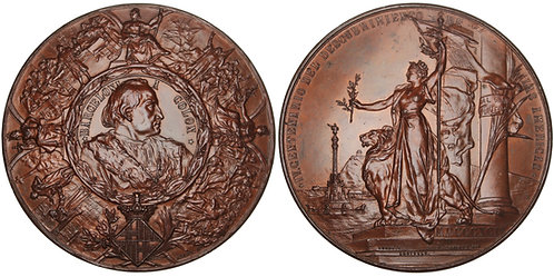 101094     UNITED STATES & SPAIN. Christopher Columbus bronze Medal.
