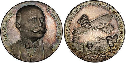 100605     GERMANY. Graf von Zeppelin silver Medal.