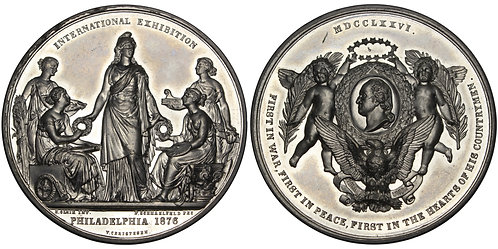 101195     UNITED STATES. Int'l Expo/Danish/Washington white metal Medal.