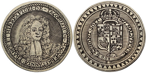 100789  |  GREAT BRITAIN. England. James II silver Jeton or Gaming Counter.