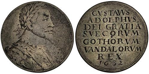 100654     SWEDEN & GREAT BRITAIN. Gustav II Adolph silver Jeton.