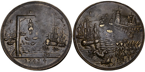 101661  |  GREAT BRITAIN, SPAIN & FRANCE. Battle of Toulon brass Medal.