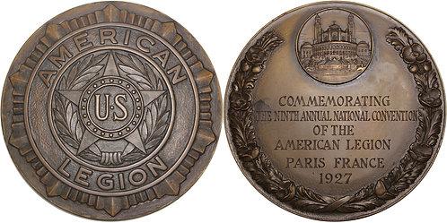 100268  |  UNITED STATES & FRANCE. American Legion bronze Medal.