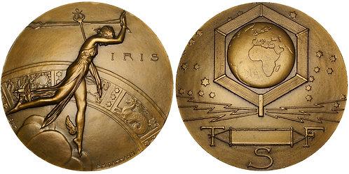 101594  |  FRANCE. Télégraphie sans Fil [Radio] Art Deco bronze Medal.