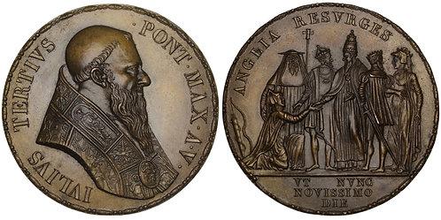 101105  |  GREAT BRITAIN & ITALY. Pope Julius III bronze Medal.