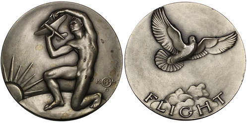 "100670  |  UNITED STATES. ""Flight"" silver Medal."