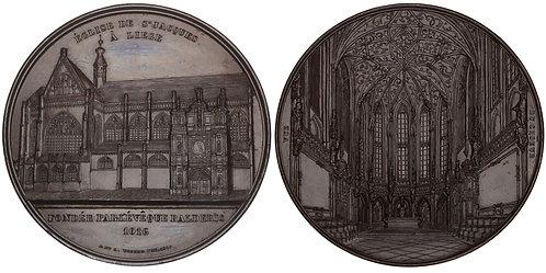 101046  |  BELGIUM. Liège. St. James's Church bronze Medal.