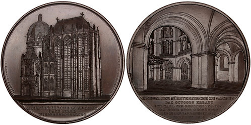 101474     GERMANY. Aachen Cathedral bronze Medal.