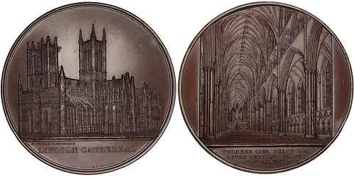 100729  |  GREAT BRITAIN. Lincoln Cathedral bronze Medal.
