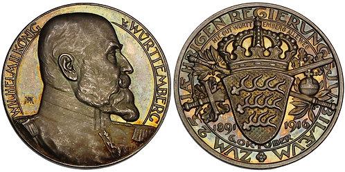 100703     GERMANY. Württemberg. Wilhelm II silver Medal.