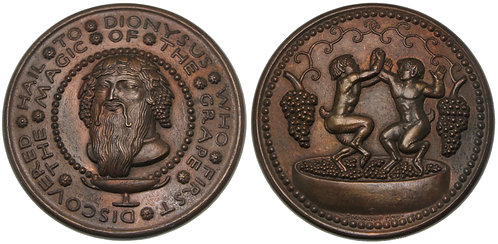100096  |  UNITED STATES. Hail to Dionysus bronze Medal.