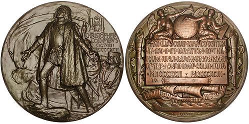 101352  |  UNITED STATES. Christopher Columbus/Columbian Expo bronze award Medal