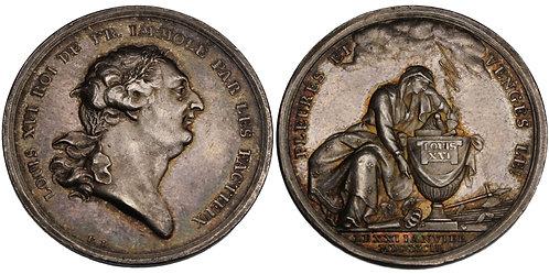 100552  |  FRANCE. Louis XVI silver Medal.
