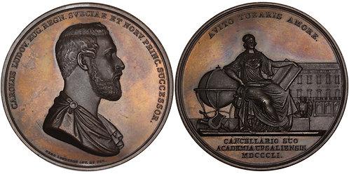100564  |  SWEDEN. Kronprins Karl Ludvig bronze Medal.