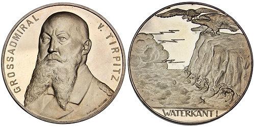 101505     GERMANY. Großadmiral Alfred Peter Friedrich von Tirpitz silver Medal.