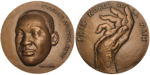 100783  |  UNITED STATES & FRANCE. Rev. Martin Luther King, Jr. bronze Medal.