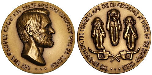 100140     UNITED STATES. Bronze Medal. The Broken American Energy Policy.