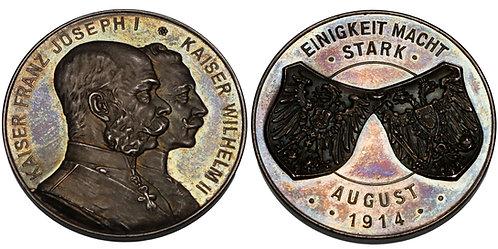 100188     GERMANY & AUSTRO-HUNGARIAN EMPIRE. Wilhelm II & Franz Joseph Medal.