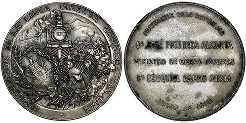 101718     ARGENTINA. Railroad silvered bronze Medal.