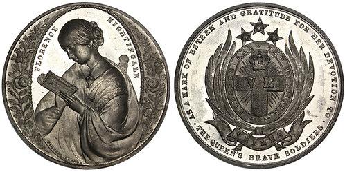 101530     GREAT BRITAIN. Florence Nightingale/Crimean War white metal Medal.