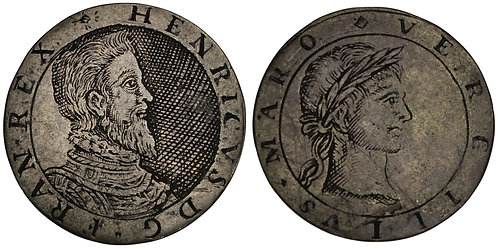 100656  |  FRANCE & GREAT BRITAIN. Henri I & P. Vergilius Maro silver Jeton.