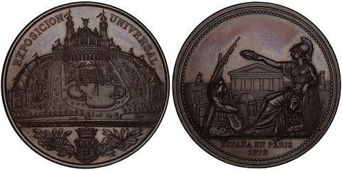 100752  |  SPAIN & FRANCE. Paris World's Fair copper Medal.