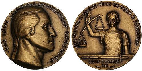 100171  |  UNITED STATES. Bronze Medal. The Degradation of our Justice System.
