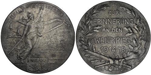 100837  |  GERMANY & AUSTRIA-HUNGARY. Propaganda zinc Medal.