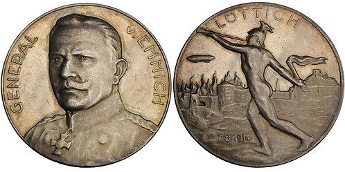 100559  |  GERMANY. General Otto von Emmich silver Medal.